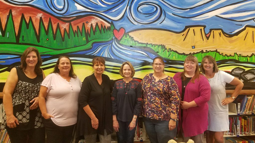 MSDB's DHH Consultants - From Left to right - Leann Goss, Carol Clayton-Bye, Kitty Griffin, Lisa Cannon, Kim Schwabe, Cathy Jury, and Emily LaSalle