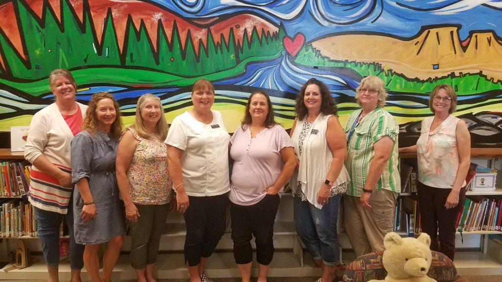 MSDB's VI Consultants - From left to right - Amy Tangen, Kerri Norick, Sharon Woods, Barbara Peterson, Carol Clayton-Bye, Michelle Cross, Susan Davis, Jane Garrison